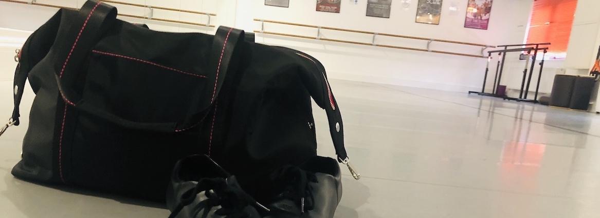 Dance kit bag in dance studio