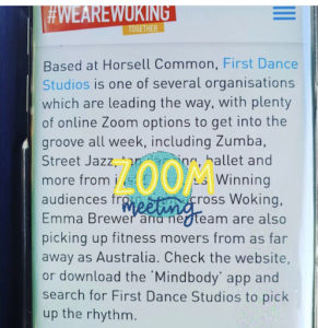 Dance with us on Zoom