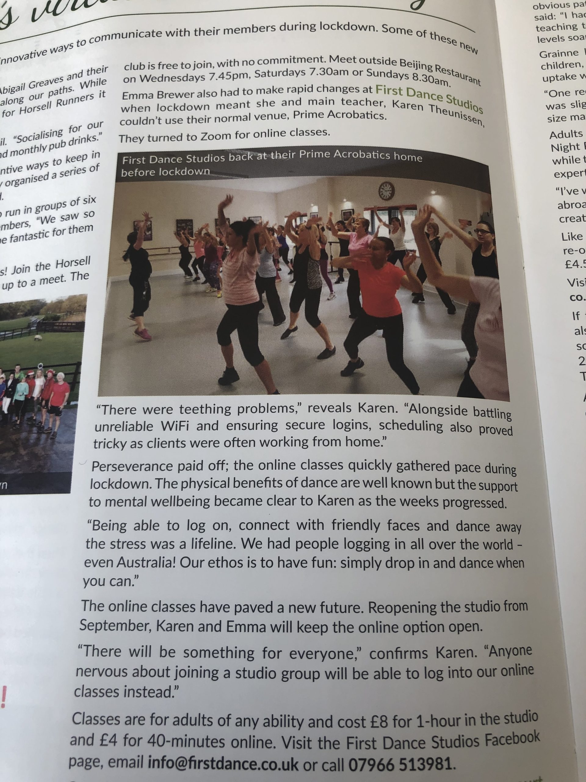 Adult Dance classes Horsell Resident featured First Dance Studios