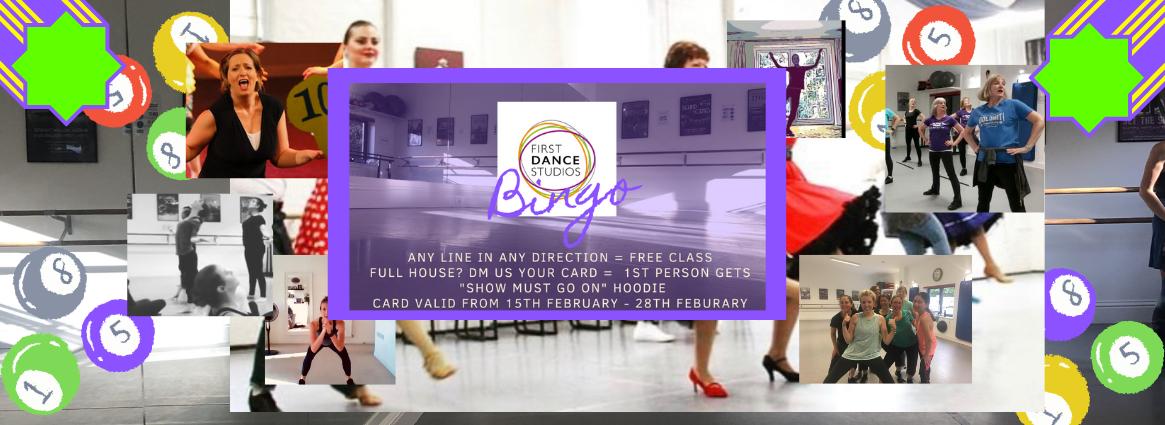 BINGO this week with First Dance Studios