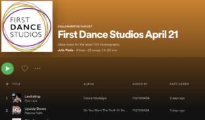 First Dance Studios Dance playlist