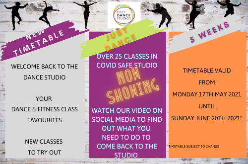 NEW ADULT DANCE TIMETABLE