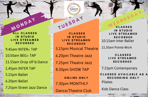 Ballet dance timetable near me