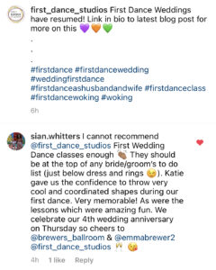 Make your first dance extra special at your wedding