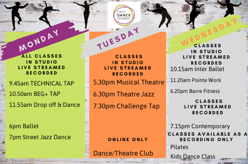 New Summer Dance for Adults Timetable