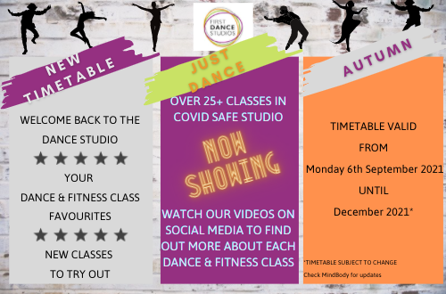 NEW DANCE & Fitness timetable for adults